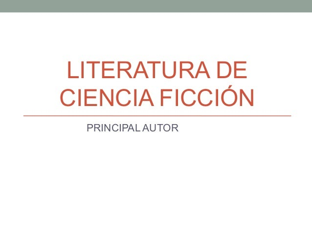 genero de ciencia ficcion literatura latina - photo#25
