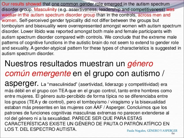 sexuality and gender role in autism spectrum disorder a case control study Only a small number of case reports (n=7) on sexual offending in individuals with   new name of autism spectrum disorder (asd) to encompass four previously   for attachment or sexual relations may subsequently lead to sexual offending   this review will look at studies across this range of sexual offending behaviours.