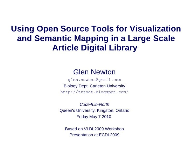 Using Open Source Tools for Visualization  and Semantic Mapping in a Large Scale          Article Digital Library         ...