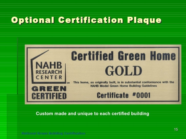 Nahb model green home guidelines