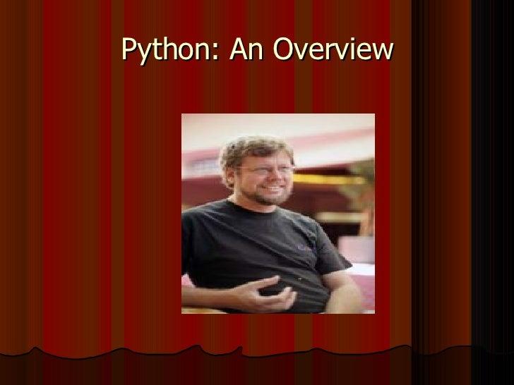 Python: An Overview
