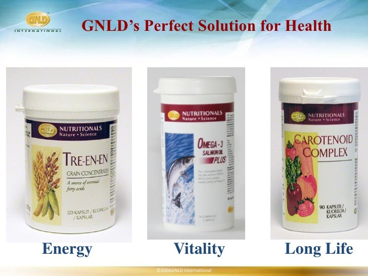 GNLD's Perfect Solution for Health          Energy               Vitality           Long Life 18                 ©2006GNLD...