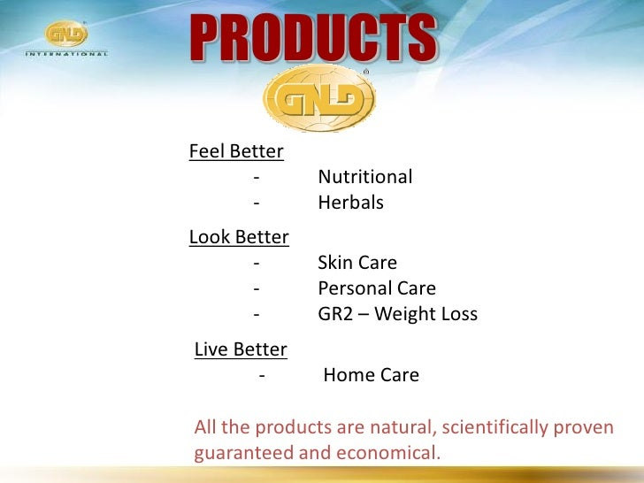 PRODUCTS Feel Better        -      Nutritional        -      Herbals Look Better        -      Skin Care        -      Per...