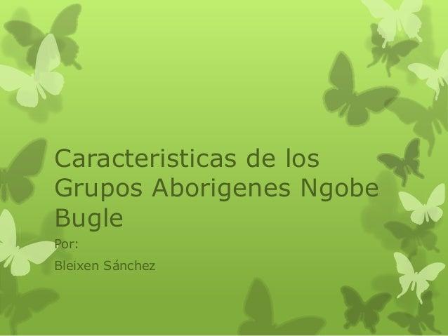 Caracteristicas de los Grupos Aborigenes Ngobe Bugle Por: Bleixen Sánchez