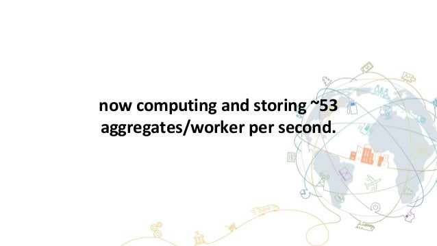 now computing and storing ~53 aggregates/worker per second.