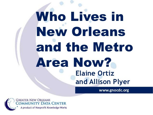 Who Lives in            New Orleans            and the Metro            Area Now?                                         ...