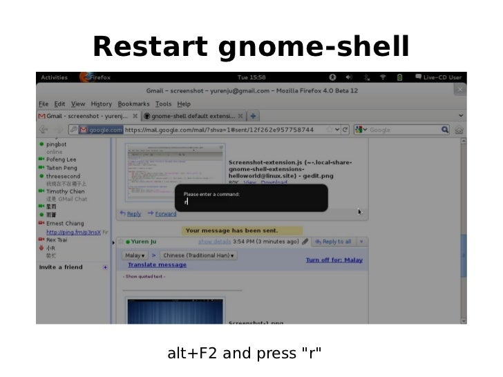 step by step to write a gnome-shell extension