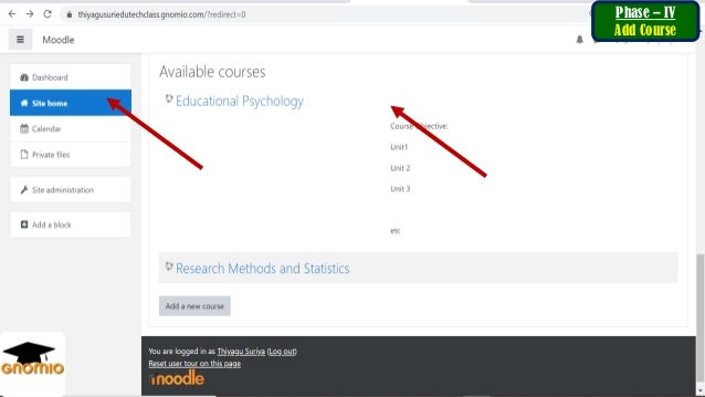 Post Content & Activities In the course page Phase - VI