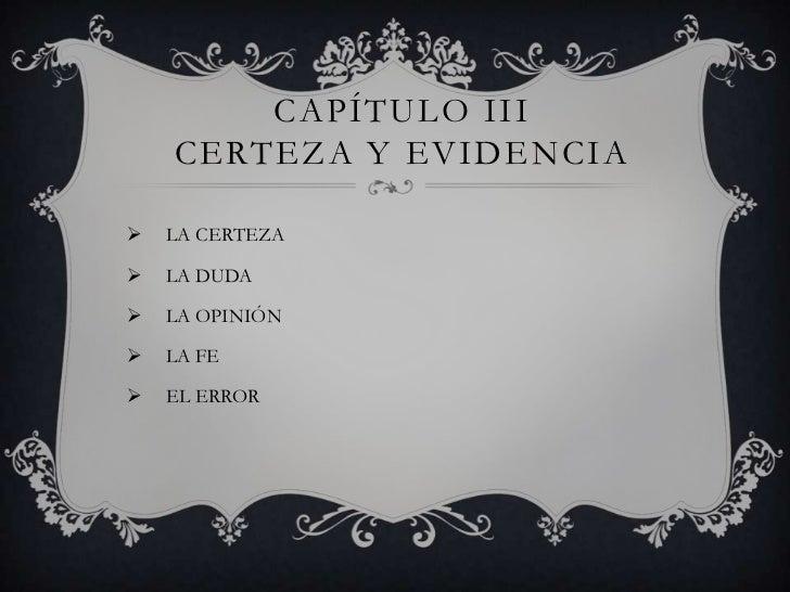 Gnoseología capitulo 3