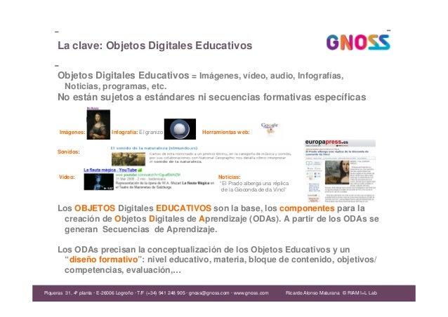 Ricardo Alonso Maturana La clave: Objetos Digitales Educativos Objetos Digitales Educativos = Imágenes, vídeo, audio, Info...