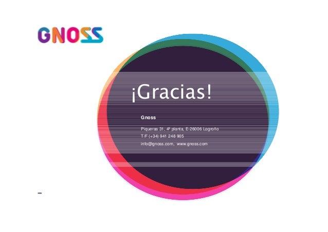 ¡Gracias! Gnoss Piqueras 31, 4ª planta, E-26006 Logroño T/F (+34) 941 248 905 info@gnoss.com, www.gnoss.com