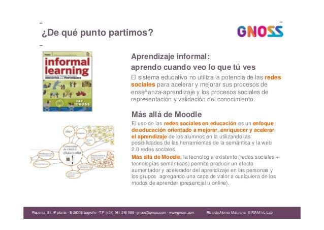 Ricardo Alonso Maturana Aprendizaje informal: aprendo cuando veo lo que tú ves El sistema educativo no utiliza la potencia...