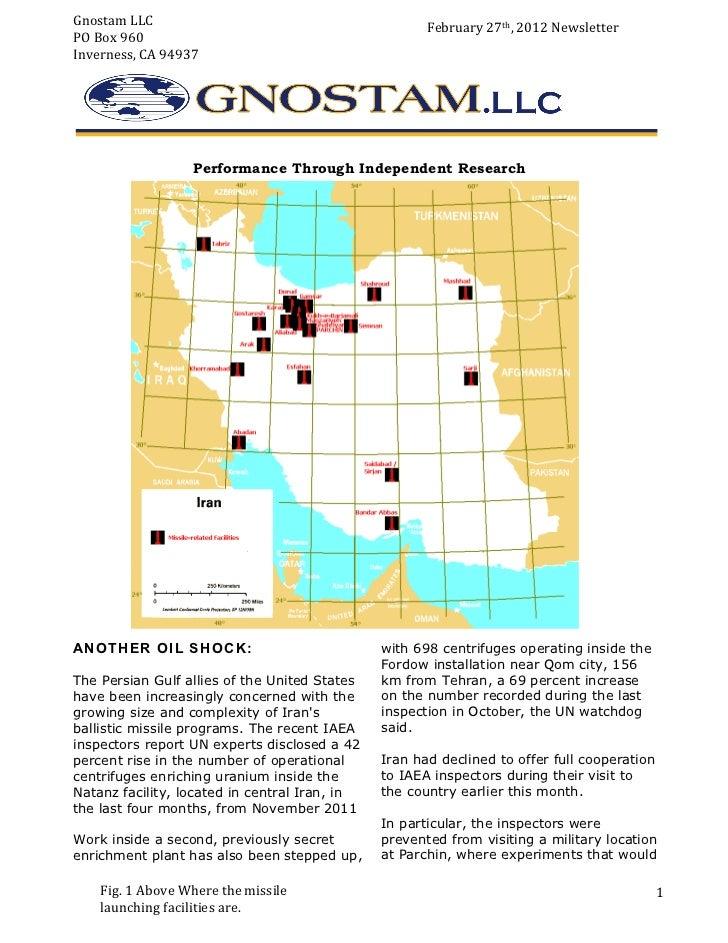 21         Gnostam LLC                                             February 27th, 2012 Newsletter          P...