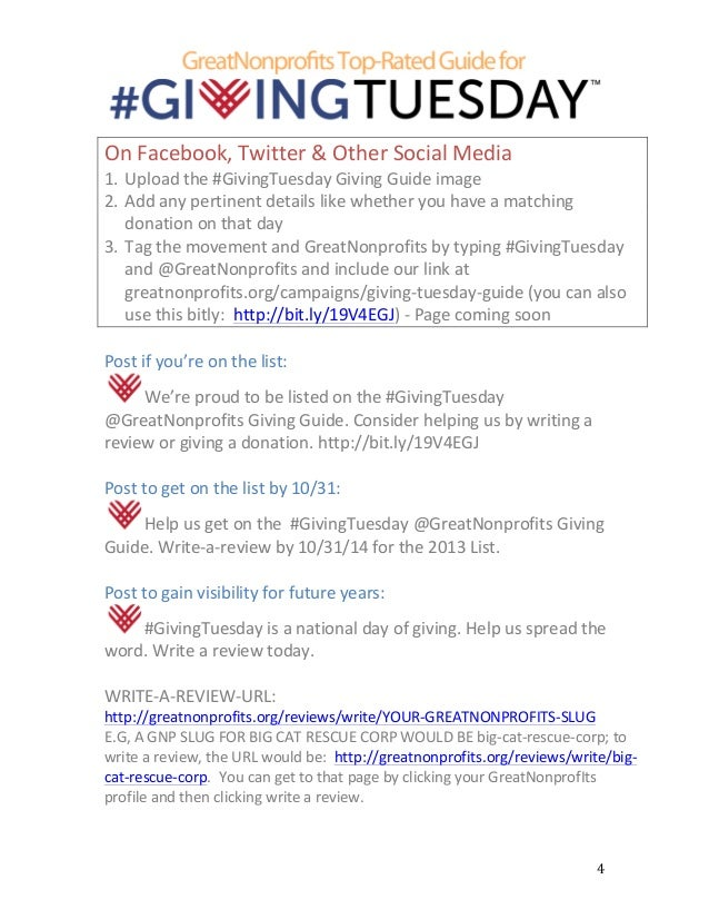 greatnonprofits 2014 givingtuesday social media and marketing guide. Black Bedroom Furniture Sets. Home Design Ideas