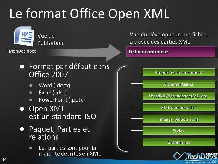 G n ration de documents office avec open xml et vsto - Office open xml format or open document format ...
