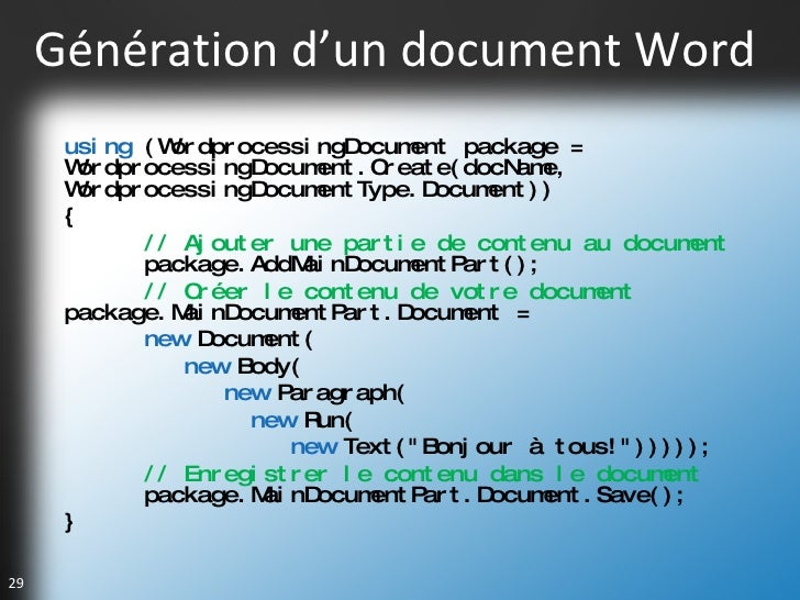 G n ration de documents office avec open xml et vsto - Ouvrir un document word avec open office ...
