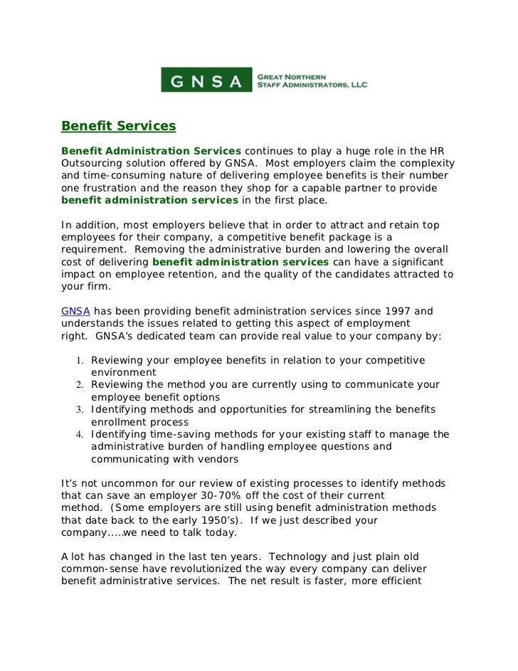 Gnsa benefit-services: Benefit Administration Services, HR ...