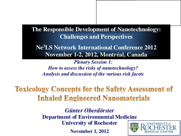 The Responsible Development of Nanotechnology:         Challenges and Perspectives Ne3LS Network International Conference ...