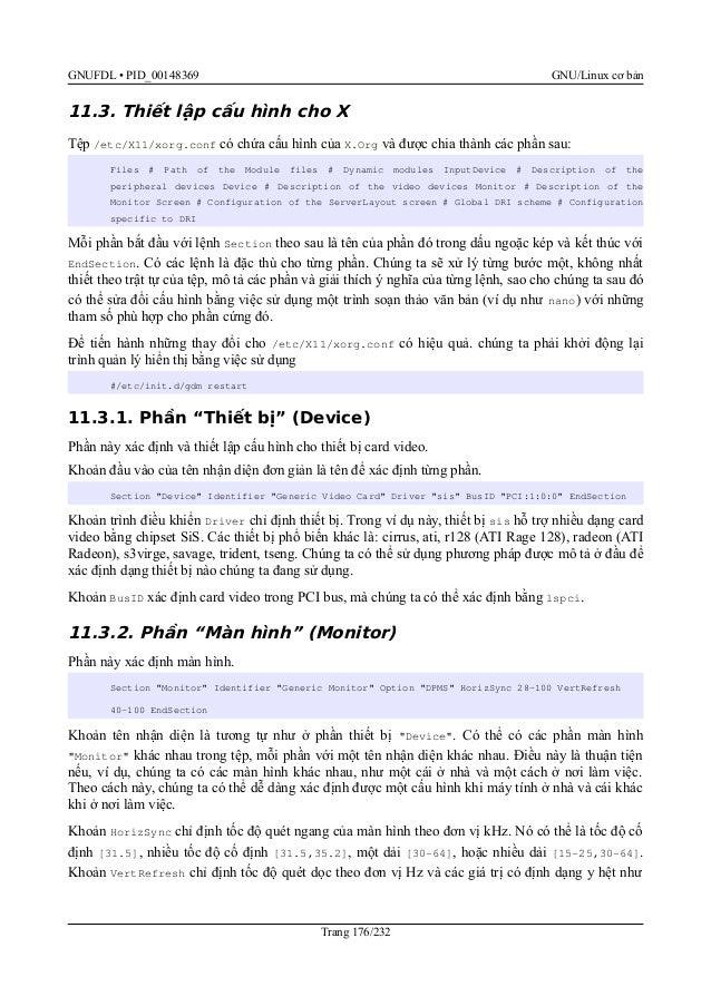 Cơ bản GNU/Linux (FTA: Basic GNU/Linux)