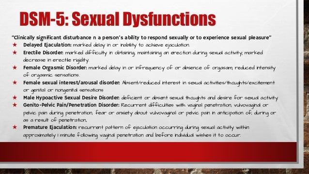 dsm 5 sexual disorders