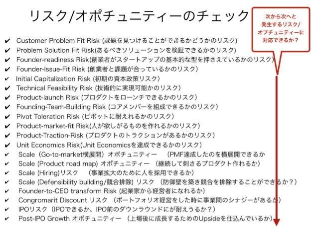 """""""リスクにどのように対応するのか を明らかにしてください。 その解像度が高かったり、 納得感があると私は投資をします"""" - マーク アンダリーセン Copyright 2018 Masayuki Tadokoro All rights rese..."""