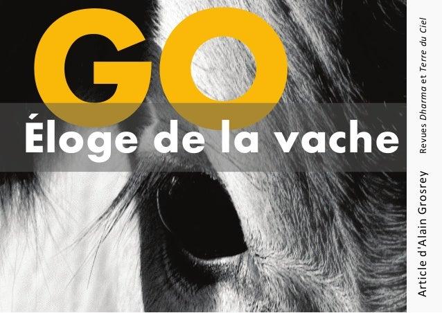 Articled'AlainGrosreyRevuesDharmaetTerreduCiel Éloge de la vache