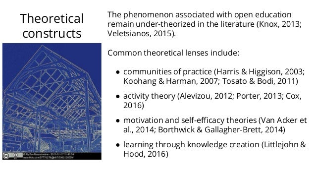 Theoretical constructs The phenomenon associated with open education remain under-theorized in the literature (Knox, 2013;...