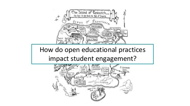 How do open educational practices impact student engagement?