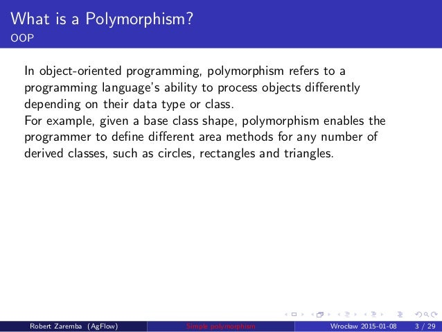 A simple way for polymorphism and structured programming
