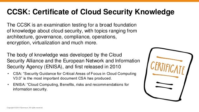 Getting Your IT Security Learners Ready for the Cloud with CCSK Certi…