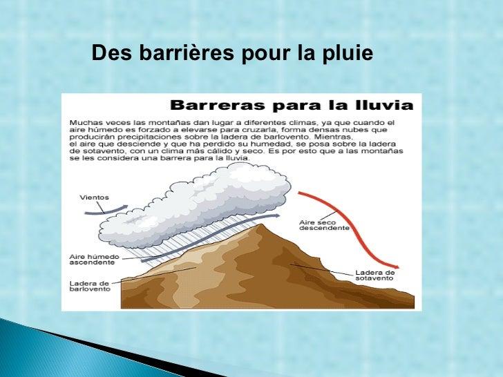 Des barrières pour la pluie