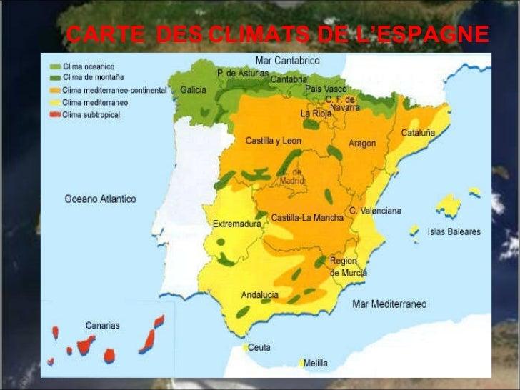 Carte Des Climats En Espagne | My blog