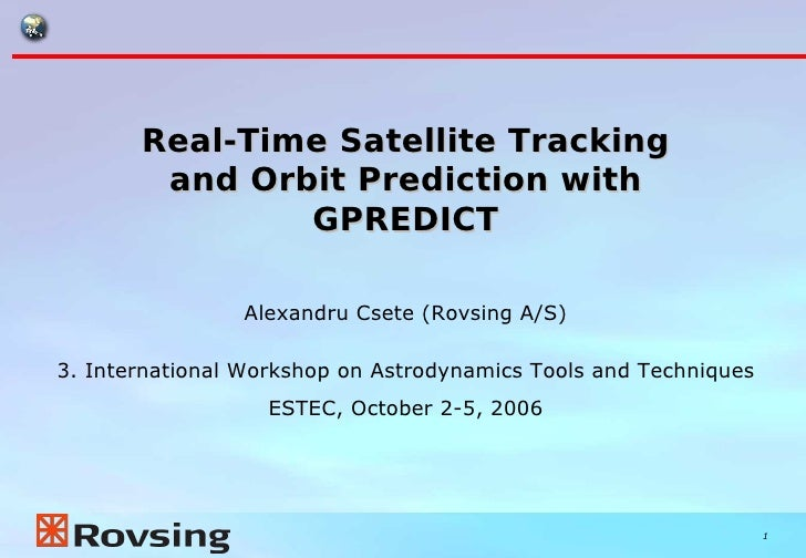 Real-Time Satellite Tracking and Orbit Prediction with GPREDICT