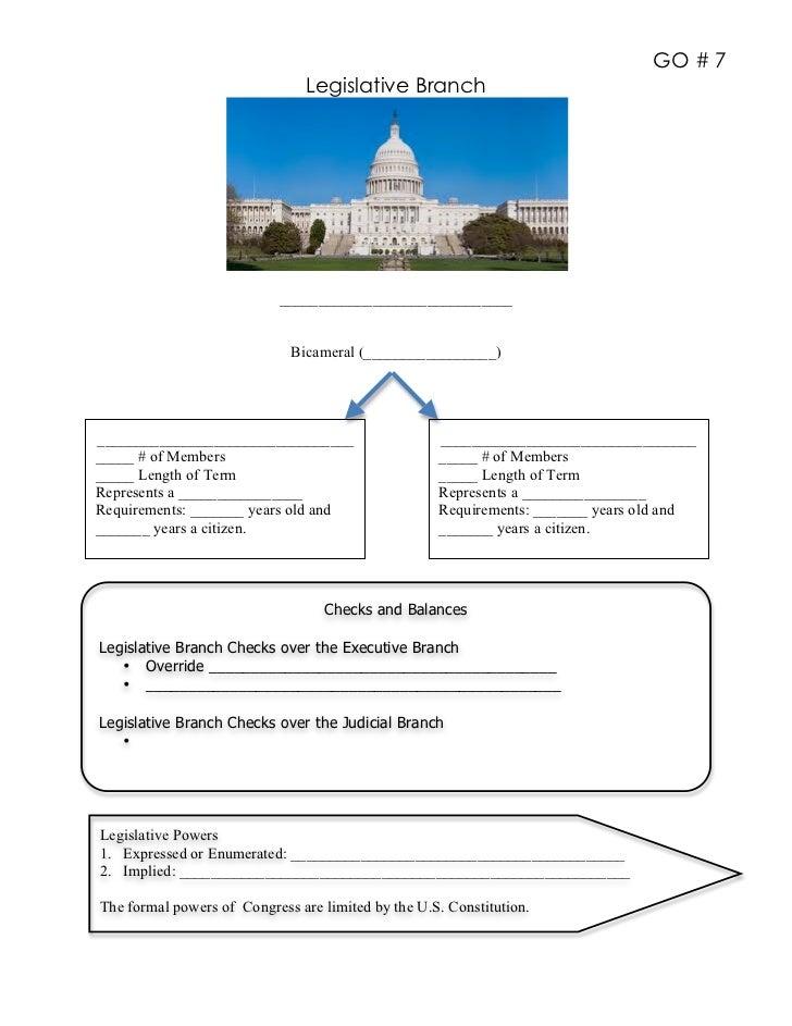 GO # 7                                Legislative Branch                            ______________________________        ...