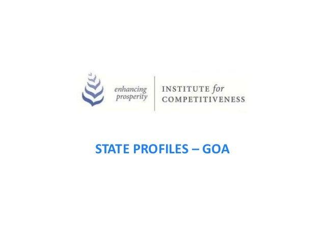 STATE PROFILES – GOA