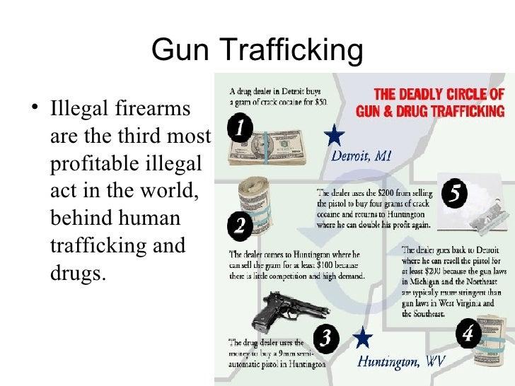 gun trafficking illegal firearms are