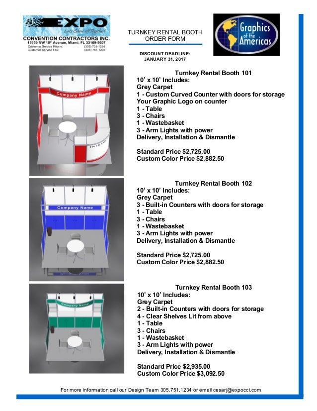 GOAexpo 2017 Exhibitor Service Manual PDF