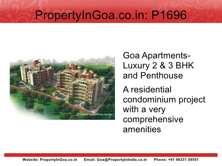 PropertyInGoa.co.in: P1696                                                     Goa Apartments-                            ...