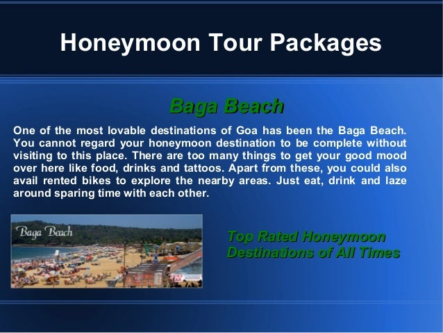 Goa is the best place for honeymoon tour Slide 2