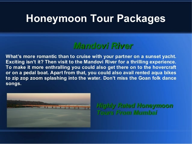 Goa is the best place for honeymoon tour Slide 3
