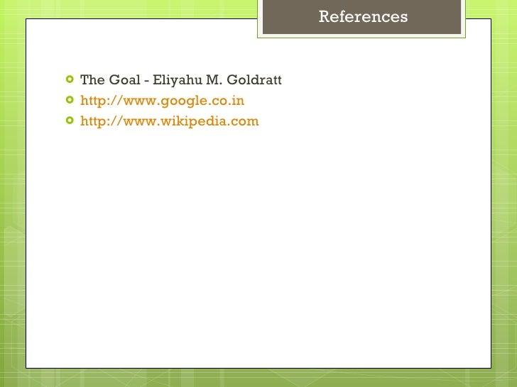 theory of constraints eliyahu m goldratt pdf