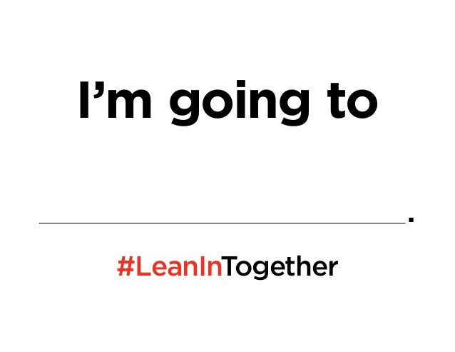 #LeanInTogether: Goal Setting Activity