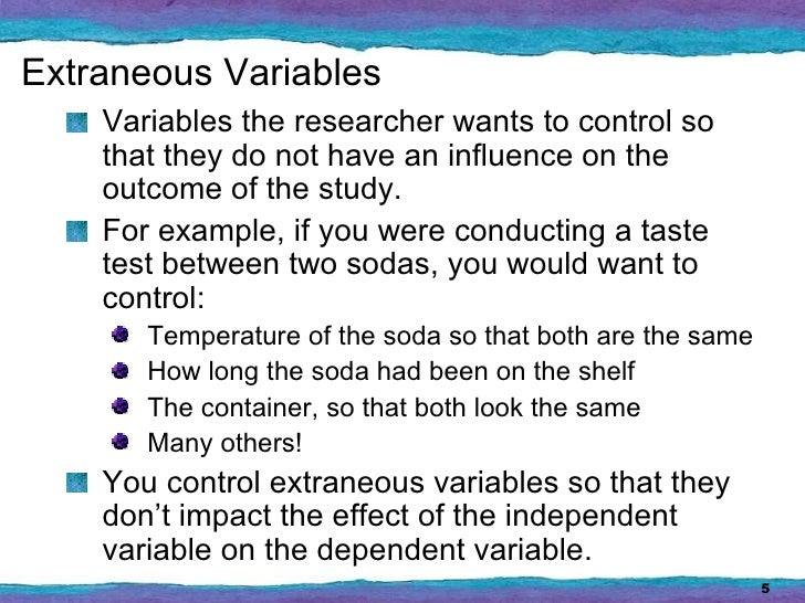 Extraneous Variables