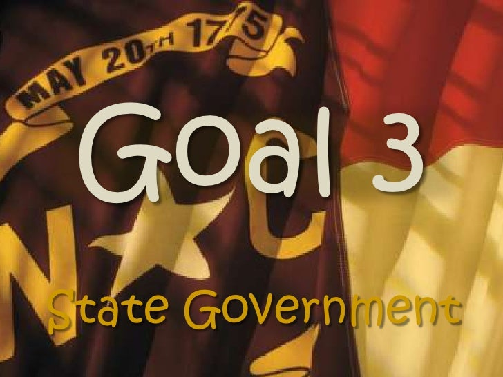 Goal 3<br />State Government<br />