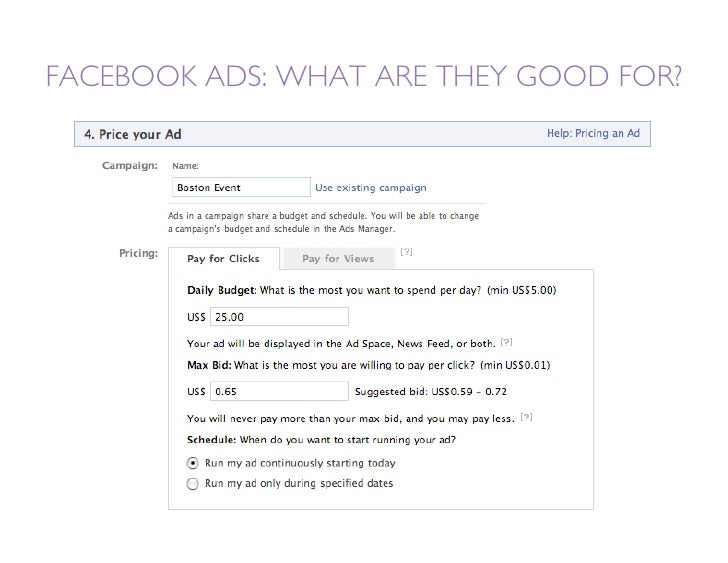 FACEBOOK ADS: WHAT ARE THEY GOOD FOR?