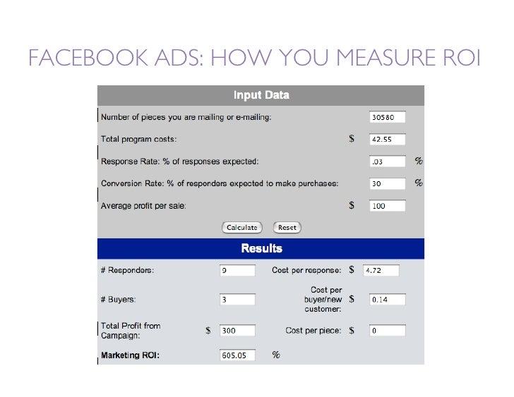 FACEBOOK ADS: HOW YOU MEASURE ROI