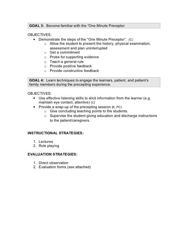 Goals objectives example Slide 2