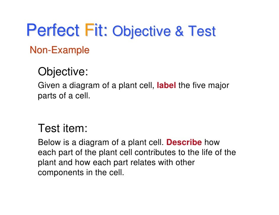 Example Of Objective Writing Goals And Objectives And The Perfect Fit