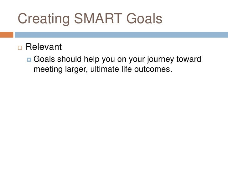 Goal Setting PowerPoint – Goals Worksheet for Adults