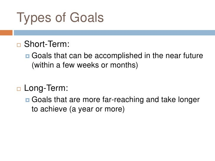 Short term objective examples.